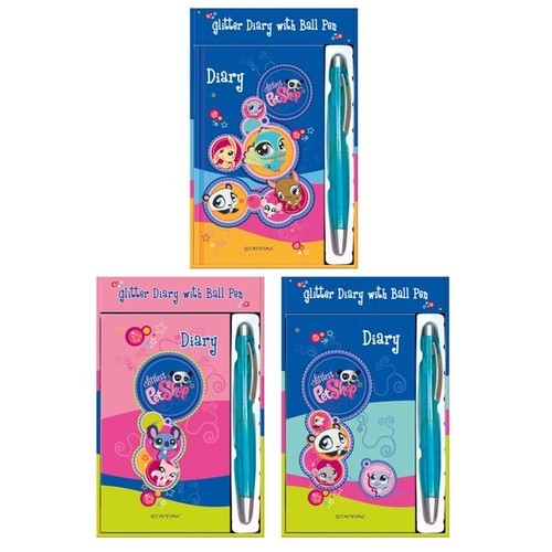 Pamiętnik brokatowy Littlest Pet Shop + długopis (206261)
