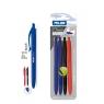4 długopisy MILAN P1 TOUCH: 2 niebieskie, 1 czarny, 1 czerwony na blistrze