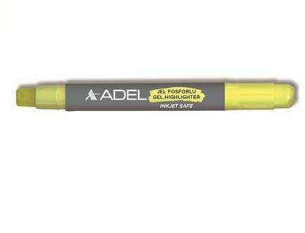 Textmarker żelowy ADEL - żółty