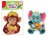 Baby puzzle piankowe - Małpa i słoń (RK1101-03)