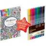 Zestaw do kolorowania Fiorello GR-KR09 książka pocztówki + cienkopisy