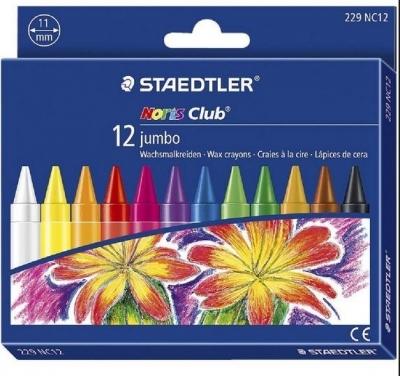 Kredki woskowe 12 kolorów jumbo Noris Club