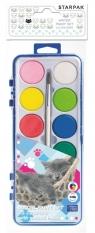 Farby akwarelowe 12 kolorów Kotki