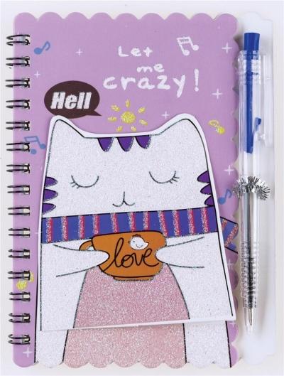 Notes na spirali z długopisem Pets 30K