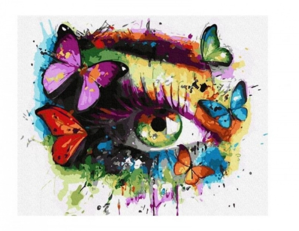 Obraz Malowanie po numerach - Oko motyl (GX36223)