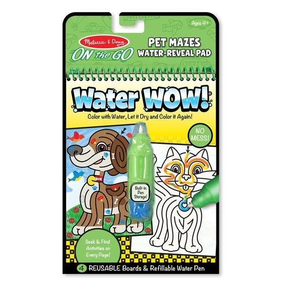 Kolorowanka Water Wow! - Zwierzęce Labirynty (MD19484)