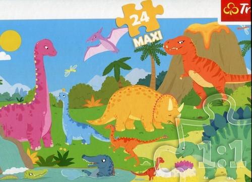 Puzzle 24 Maxi W świecie dinozaurów (14284)