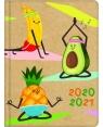 Kalendarz książkowy B6 18M 2020/2021 Kraft owoce