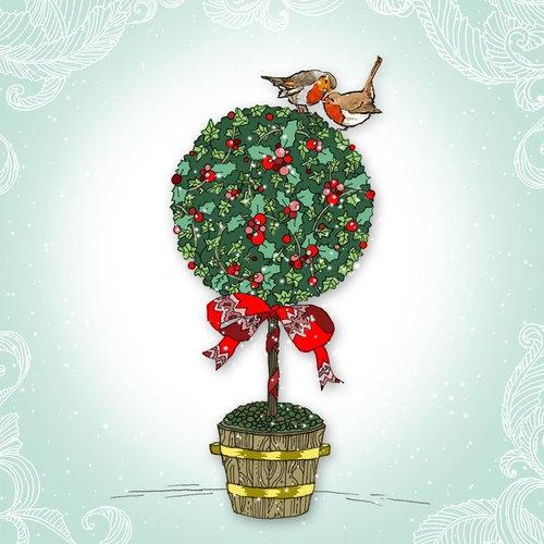 Karnet Swarovski kwadrat Święta Drzewko