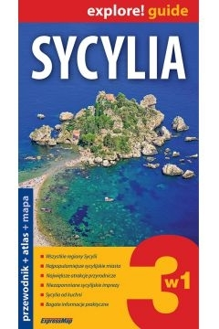 Sycylia 3w1 przew. + atlas + mapa Praca zbiorowa