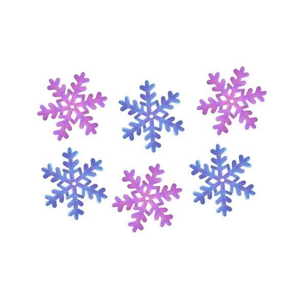 Dekoracje materiałowe, 30 szt. - płatki śniegu (284827)