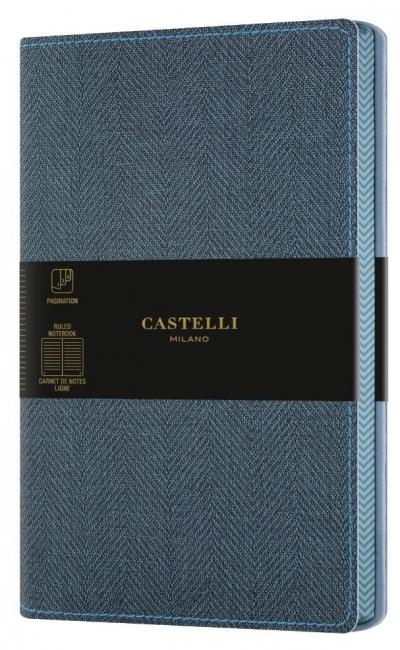 Notatnik 13x21cm linia Castelli Harris Blue