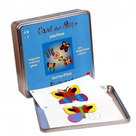 Układanka magnetyczna. Zestaw Motylki - Sztuka w zabawie (AX1000)