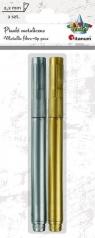 Pisaki metaliczne, złoty i srebrny (362302)