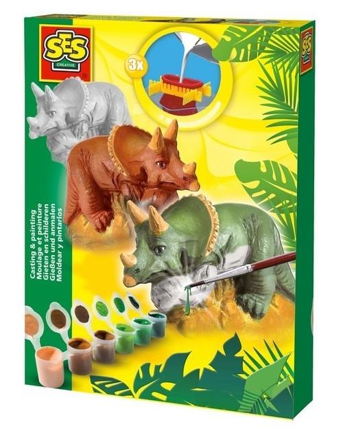 Triceratops - odlew gipsowy