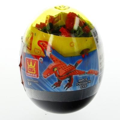 Klocki plastikowe dinozaur w jajku mix (NO-1000584)