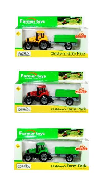 Traktor z przyczepa