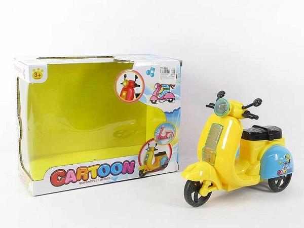 Żółty skuter na baterie dla lalki (BF111250)