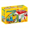 Playmobil 1.2.3: Ciężarówka z garażem sorter (70184) Wiek: 18 mies.+