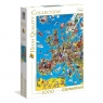 Puzzle High Quality Collection 1000 Europe map (39384)