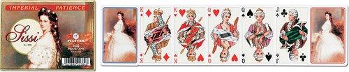 Karty do gry Piatnik 2 talie Cesarzowa Sissi Pasjans
