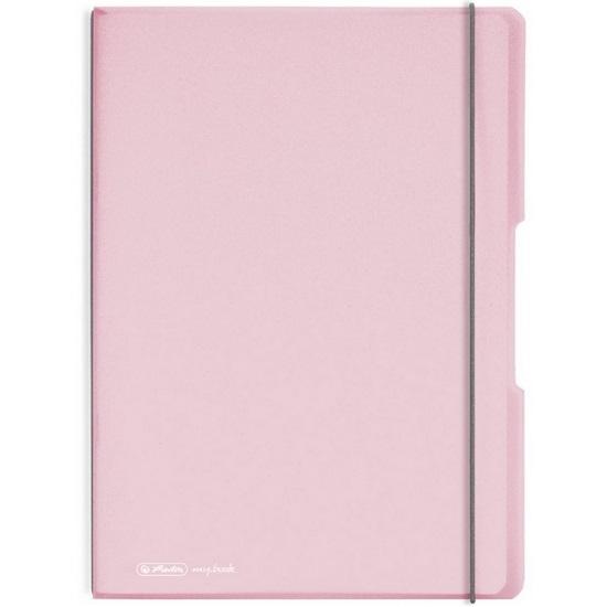Notatnik my.book Flex A4/2x40k linia, kratka - pastelowy róż (11408648)