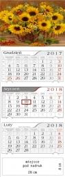 Kalendarz 2018 Trójdzielny Słoneczniki