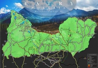 Mapa Zdrapka - Tatry polskie