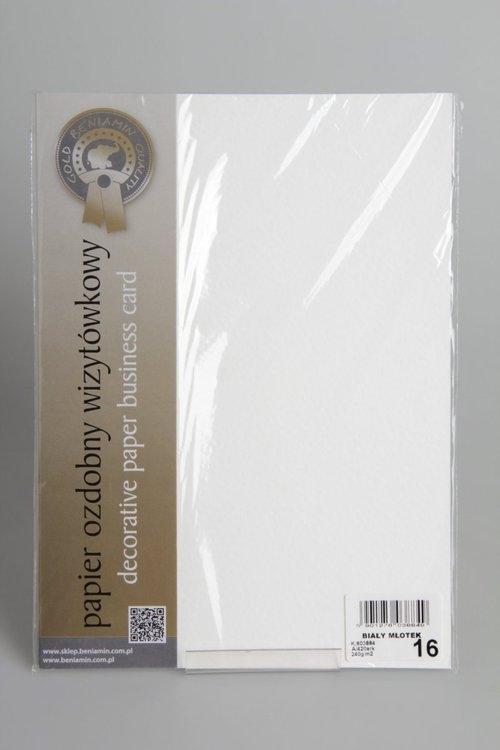 Papier wizytówkowy A4 20 arkuszy Biały młotek