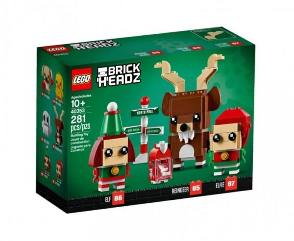 Klocki BrickHeadz Renifer, Elf i Elfka (40353)