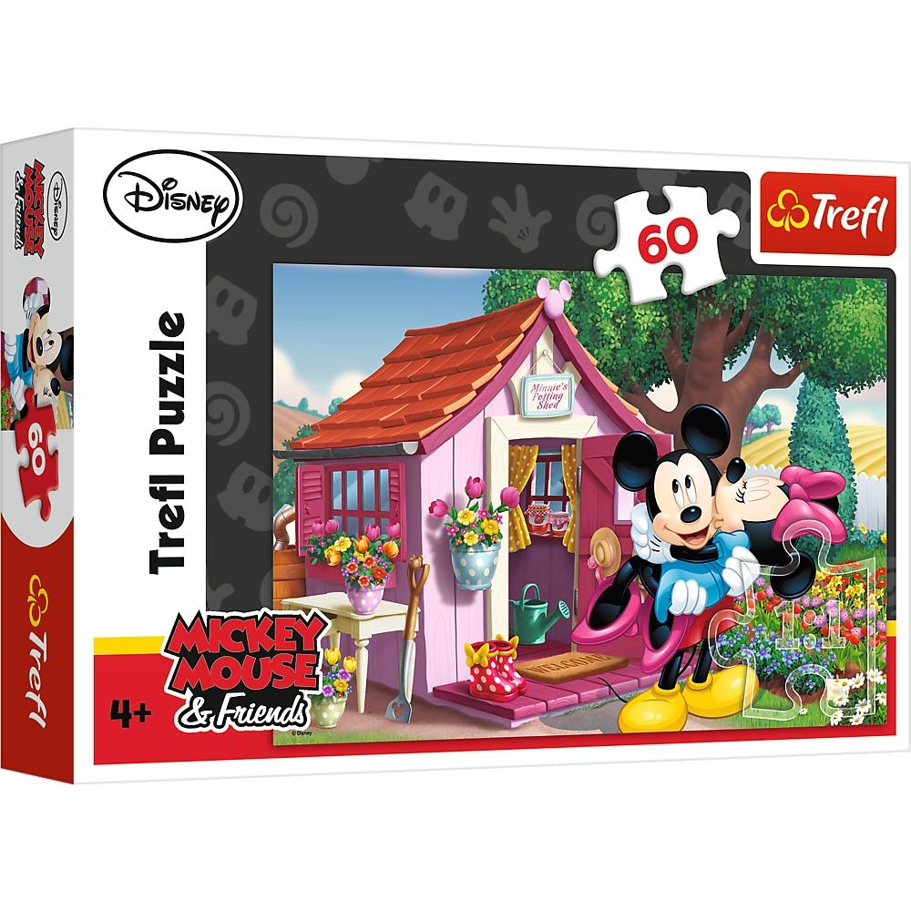 Puzzle 60: Miki i Minnie w ogrodzie (17285)