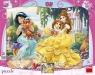 Puzzle ramkowe Księżniczki i zwierzątka 12 elementów
