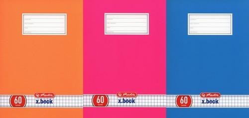 Zeszyt A5 x.book w kratkę 60 kartek 5 sztuk mix