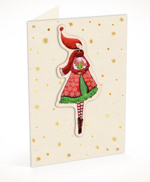 Karnet C6 naklejany + koperta Święta Kobieta ze szklaną kulą