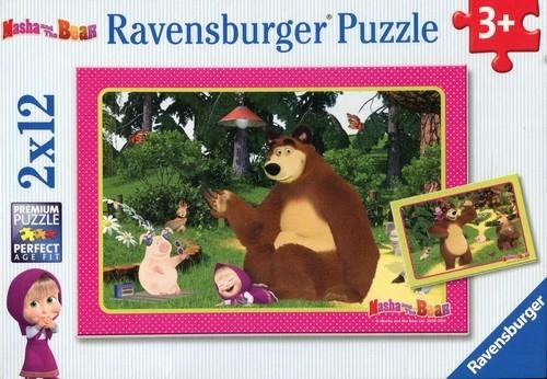 Puzzle Masza i Niedźwiedź 2x12 elementów (075850)