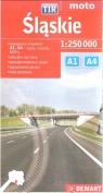 Śląskie TIR mapa samochodowa 1:250 000
