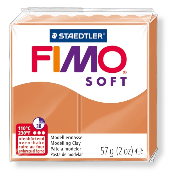 Masa termoutwardzalna Fimo soft koniakowy (8020-76)