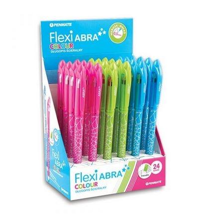Długopis ścieralny FLEXI ABRA colour niebieski wkład 0,5mm mix