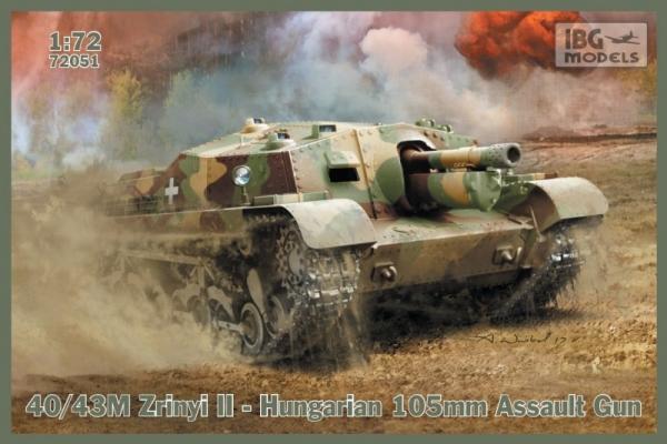 40/43M Zrinyi II Hungarian 105mm Assault Gun (72051)