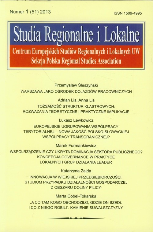 Studia Regionalne i Lokalne 1 (51) 2013