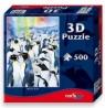 Puzzle z efektem 3D Pingwiny 500 elementów