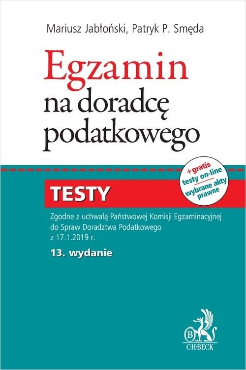 Egzamin na doradcę podatkowego Testy Jabłoński Mariusz, Smęda Patryk Piotr