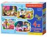 Puzzle konturowe 4w1 3-4-6-9: Fairytale Love