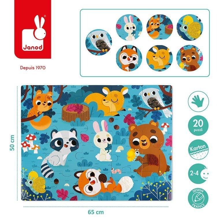 Puzzle sensoryczne 20: Leśne zwierzęta (J02685)