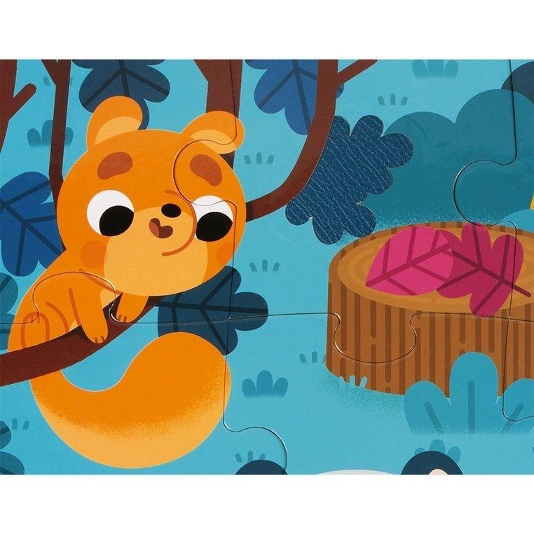 Janod, puzzle sensoryczne 20: Leśne zwierzęta (J02685)