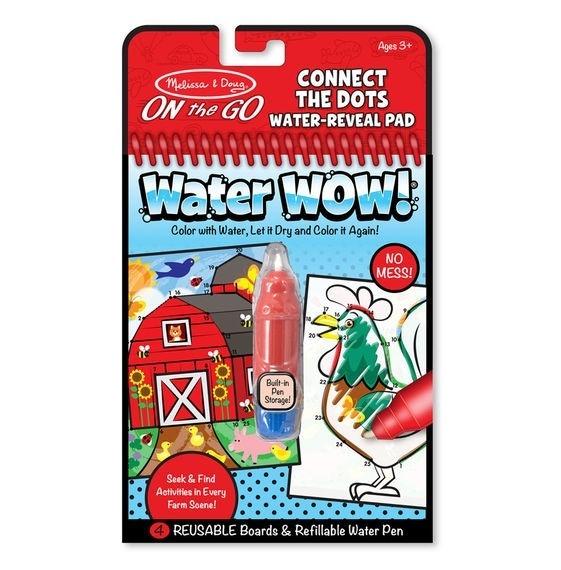 Kolorowanka Water Wow! - Farma, Połącz kropki (MD19485)
