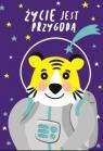 Karnet B6 Urodziny - Kosmonauta