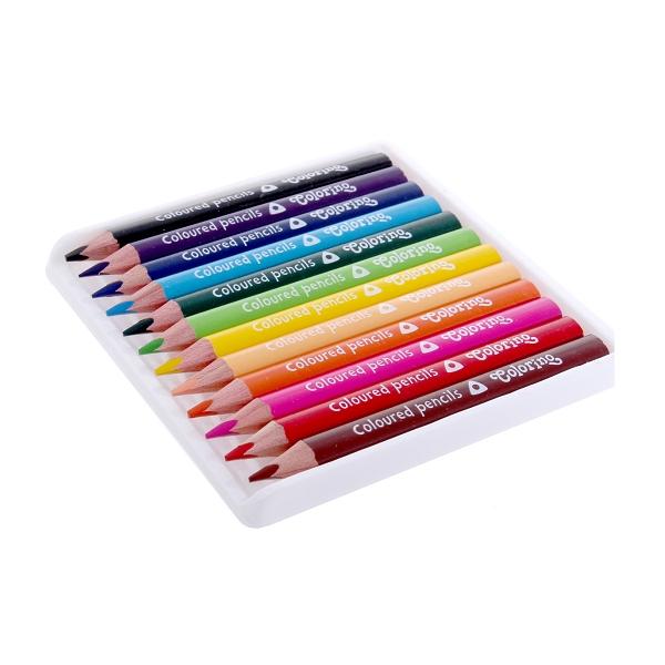 Kredki Colorino ołówkowe trójkątne mini, 12 kolorów (33077PTR)