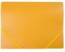 Teczka A4 plastikowa z gumką żółta D.RECT