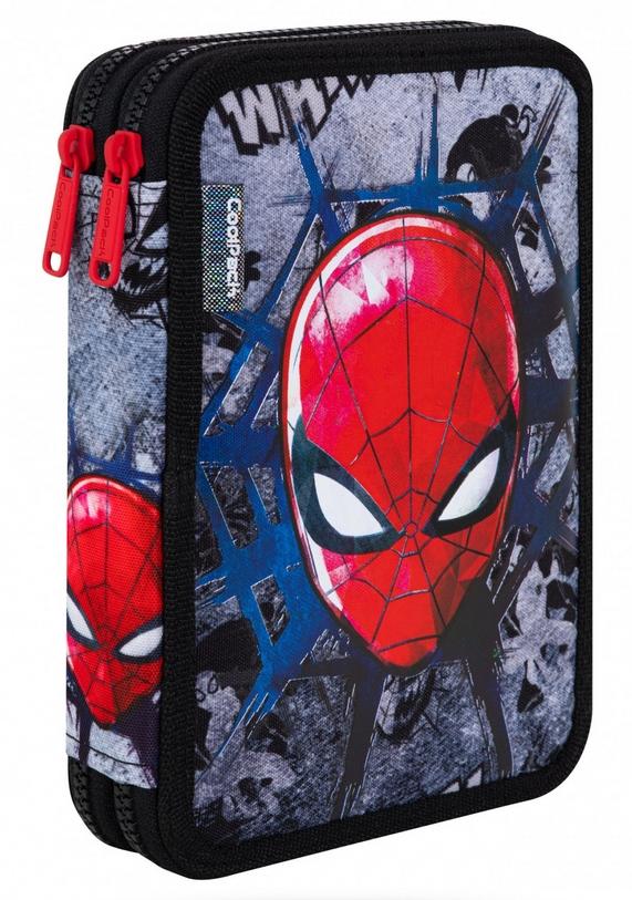 Coolpack - Jumper XL - Disney - Piórnik podwójny z wyposażeniem - Spider-man Black (B77303)